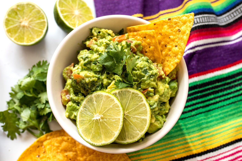 bowl of homemade guacamole