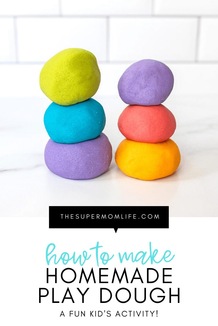The kids will love this homemade play dough recipe! It's easy to make and super fun to play with!