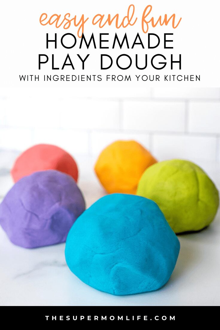 Did you know you could make homemade play dough with ingredients you probably already have in your kitchen?