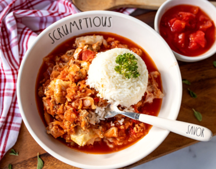 Slow Cooker Hungarian Stuffed Cabbage Casserole