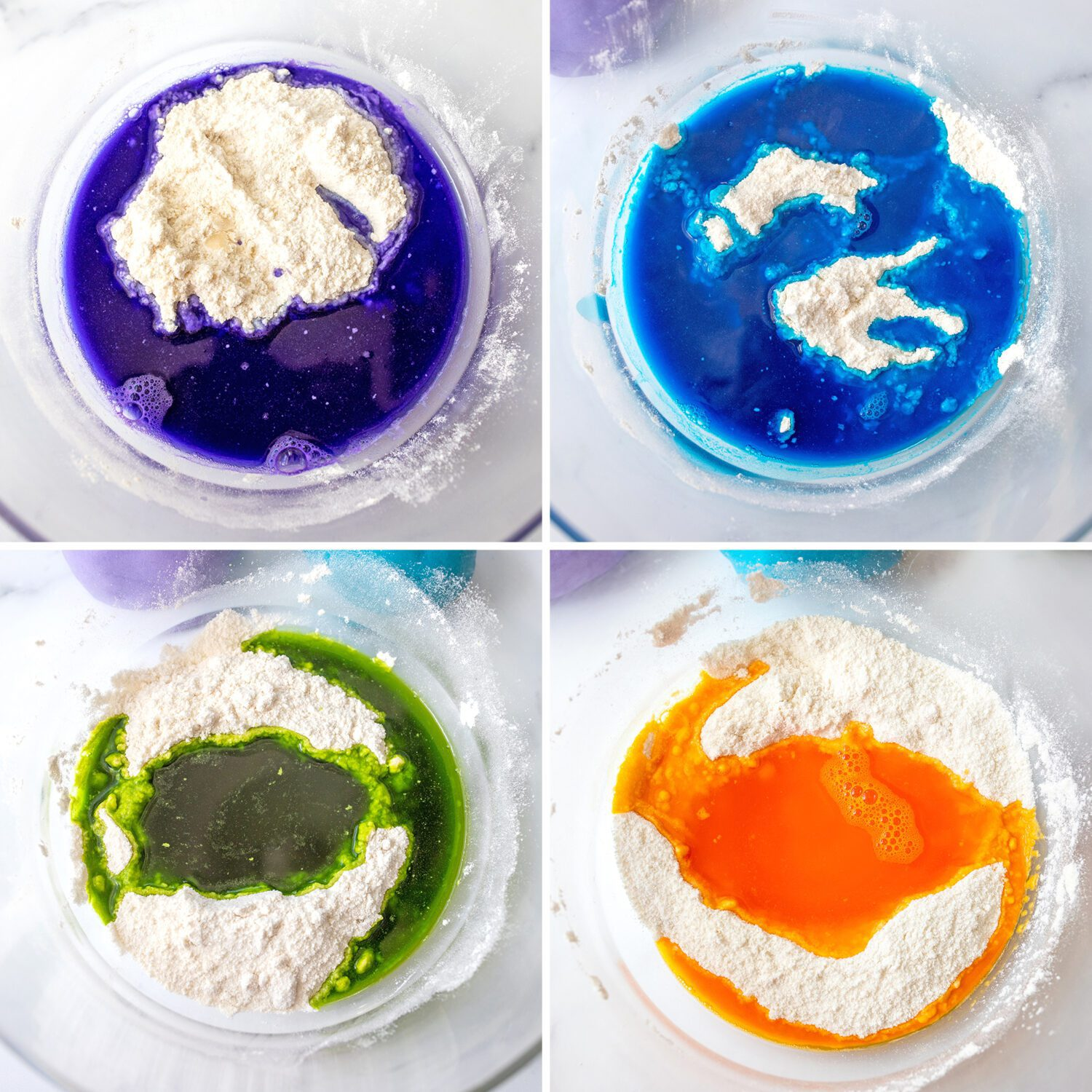 variety of color mixtures