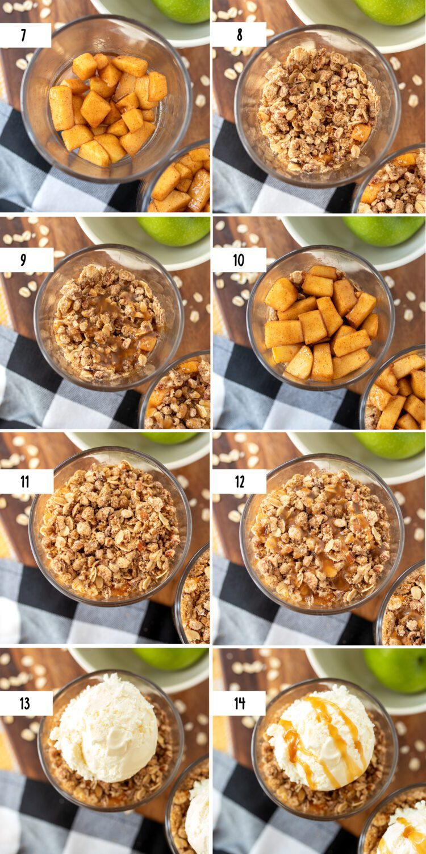 steps to make an apple crisp trifle