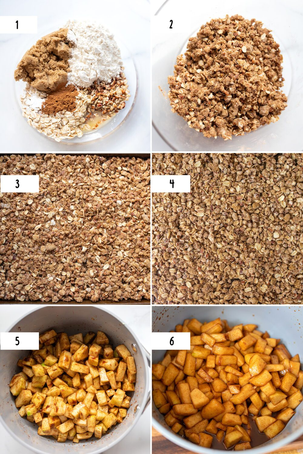 steps to make warm apples and crumble