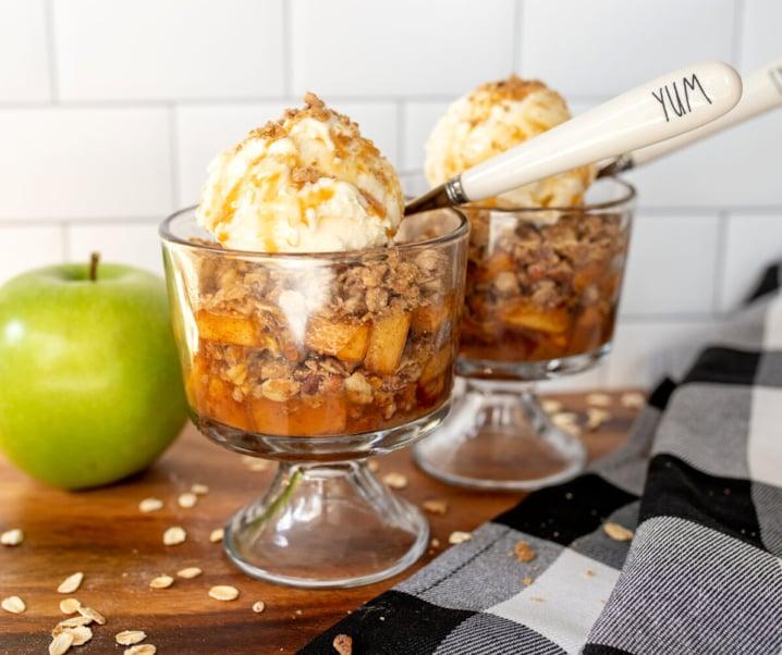 Apple, Pecan and Caramel Crisp Trifle