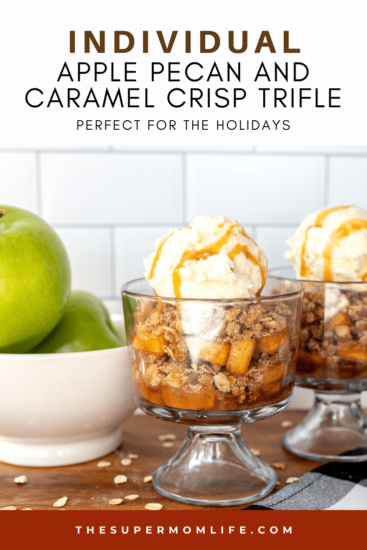 Looking for the perfect dessert for Thanksgiving or the holidays?! This individual apple pecan and caramel crisp trifle will be a hit!