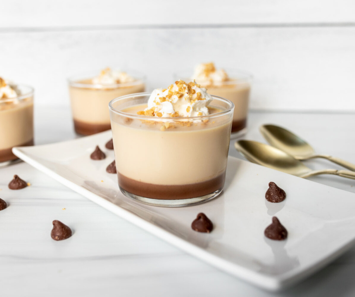 Caramel and Chocolate Panna Cotta