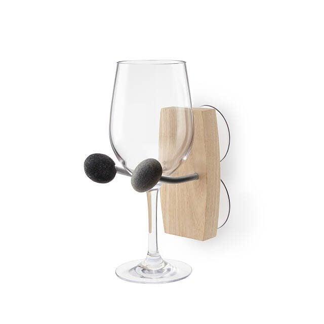 bath time essentials wine holder
