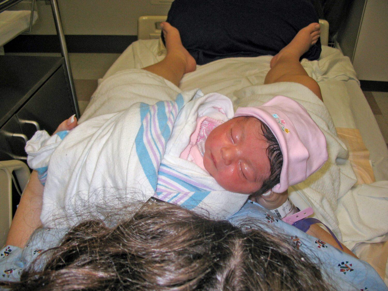newborn baby girl this is her birth story