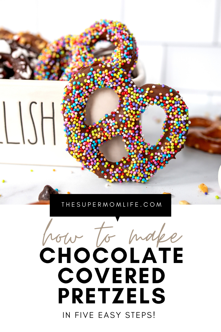 Making chocolate covered pretzels is super easy and they make a great gift idea for the holidays!