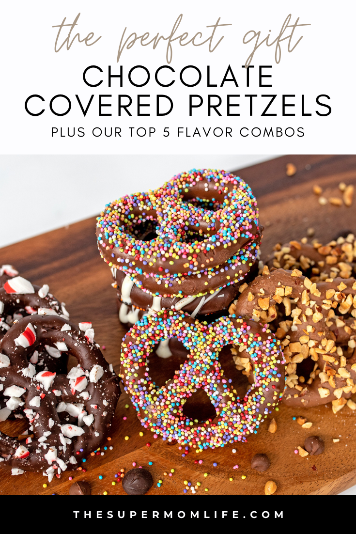 Looking for an inexpensive but thoughtful gift idea? Chocolate covered pretzels can be made in a variety of flavors and are always a hit!