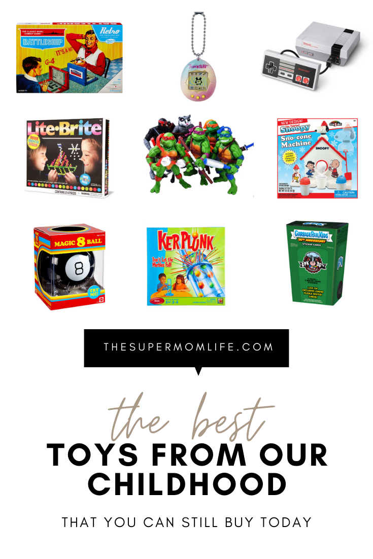 Some of our favorite toys from the 80's and 90's are still available today. Here are our favorite retro toy picks for the holidays.