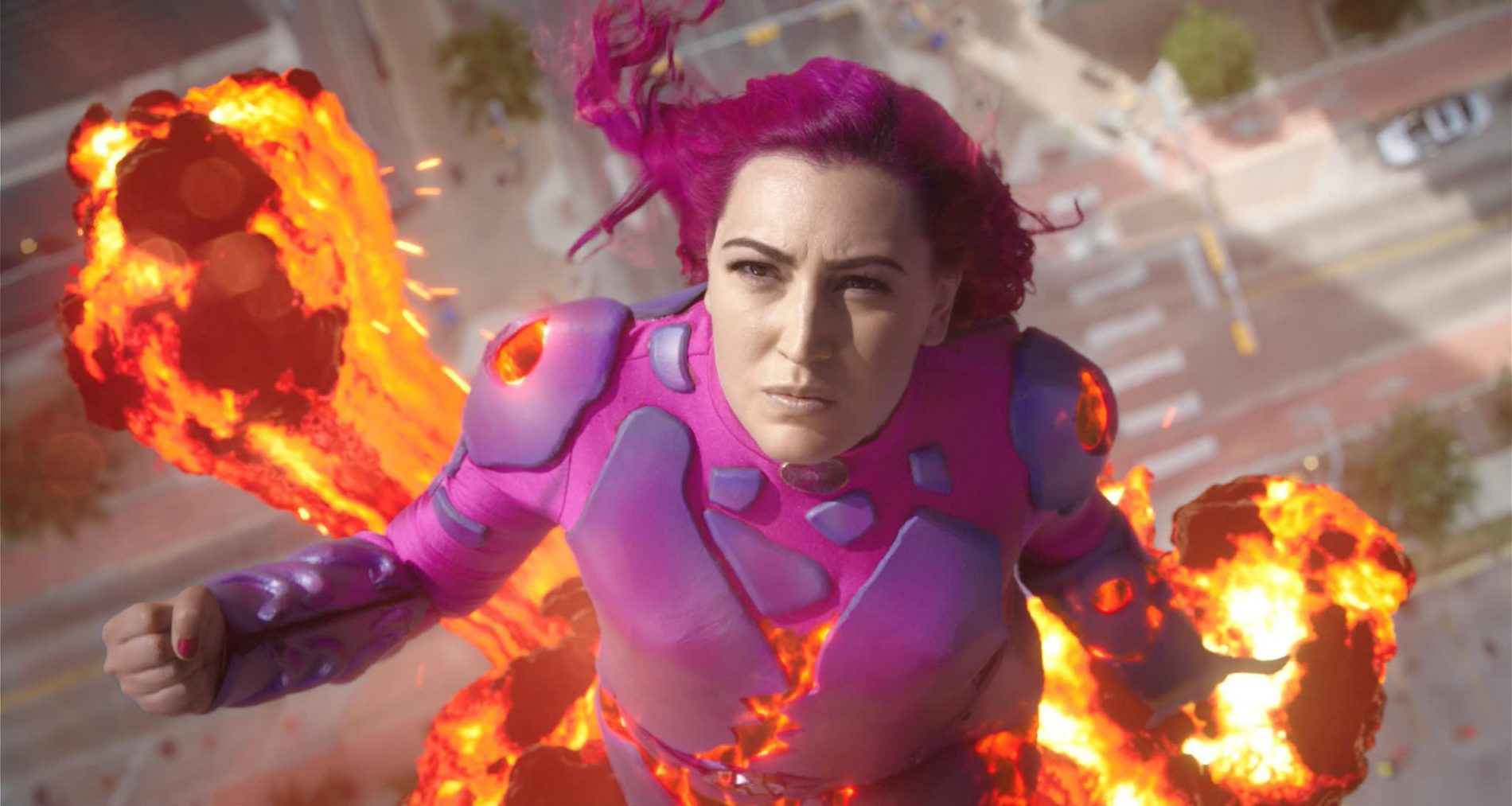 lava girl from We Can Be Heroes