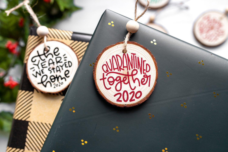 quarantine together 2020 christmas ornament