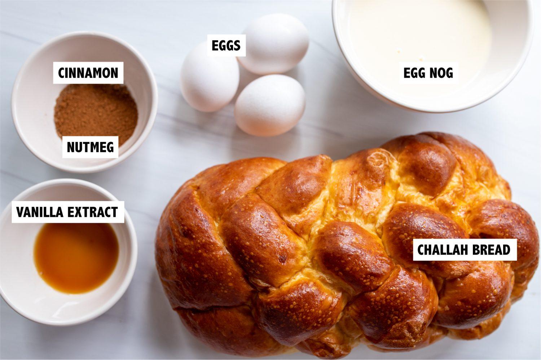 challah cinnamon nutmeg eggs and egg nog