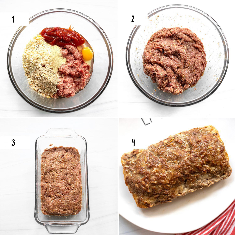 steps to make nana's classic meatloaf