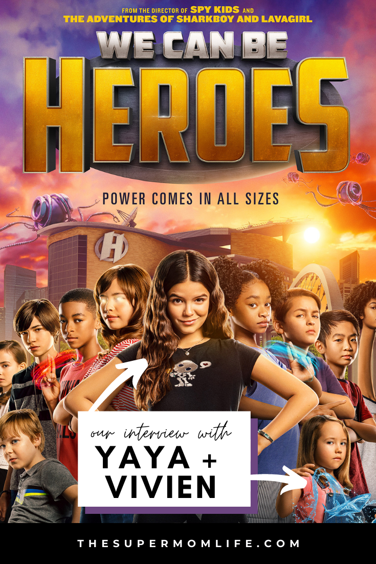 We Can Be Heroes premiers on Netflix on Christmas Day 2020. Check out our virtual interview with stars Yaya Gosselin and Vivien Lyra Blair.
