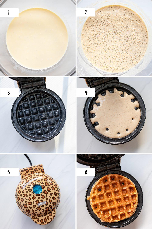 steps to make greek yogurt waffles