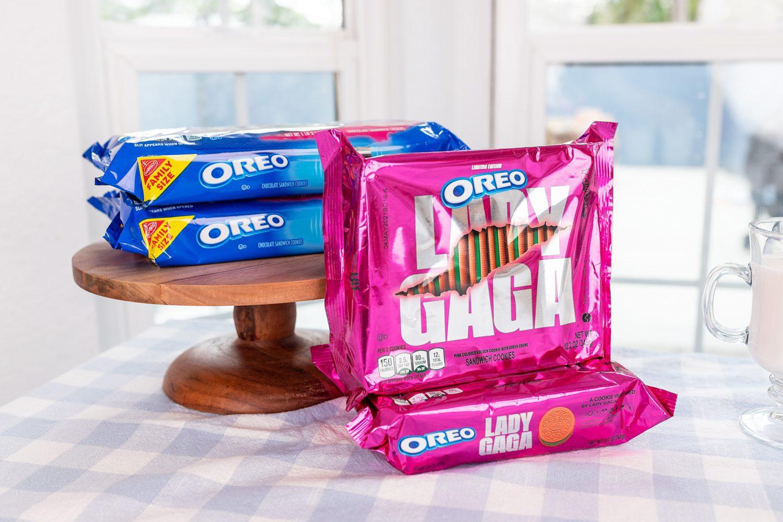 packs of regular OREO and Lady Gaga OREO Cookies