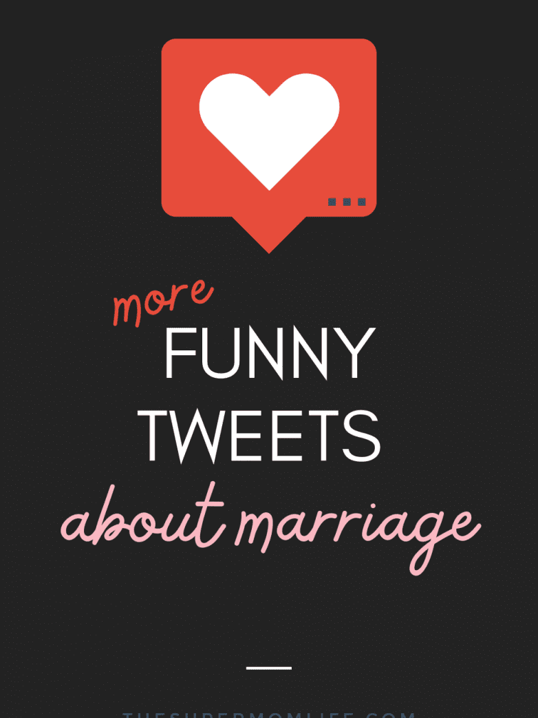 Whether you were recently married or you've been married for many years, we can all use a relatable laugh. These are more funny tweets about marriage.