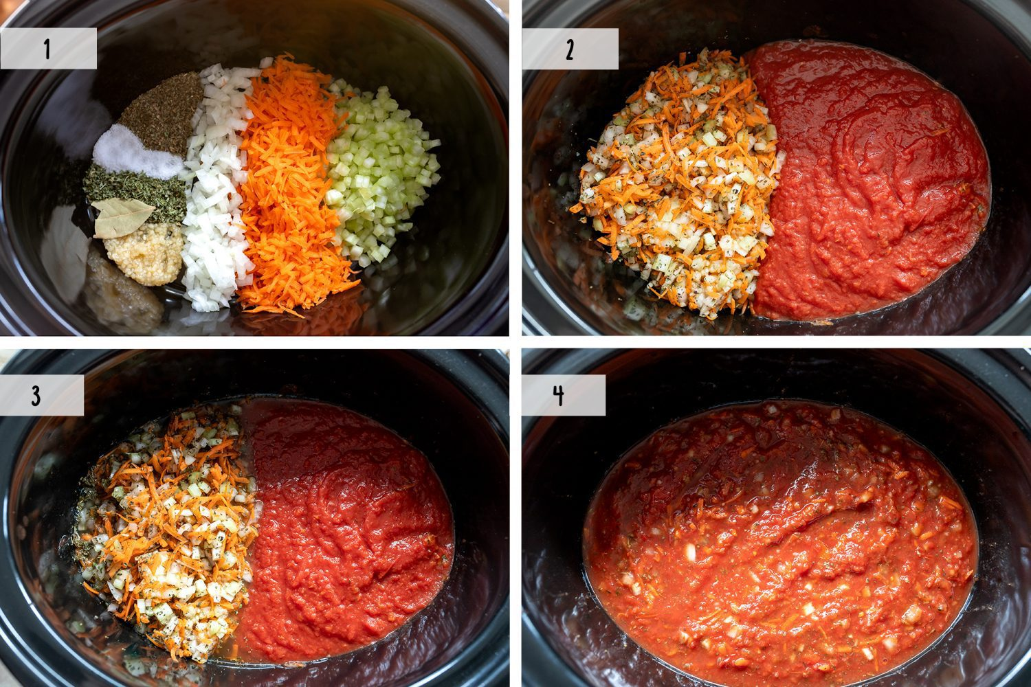steps on how to make slow cooker pasta sauce