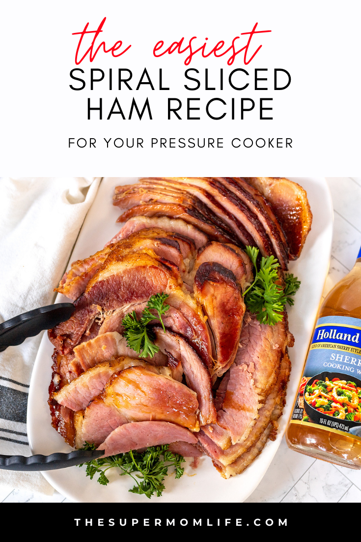 This is the easiest (and tastiest) spiral sliced ham, with homemade glaze you've ever had. Done in under an hour with your pressure cooker.