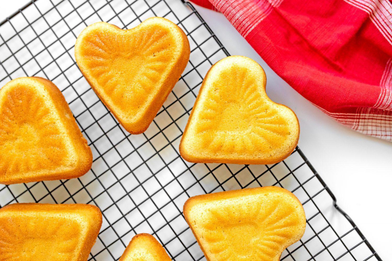 heart shaped pound cakes
