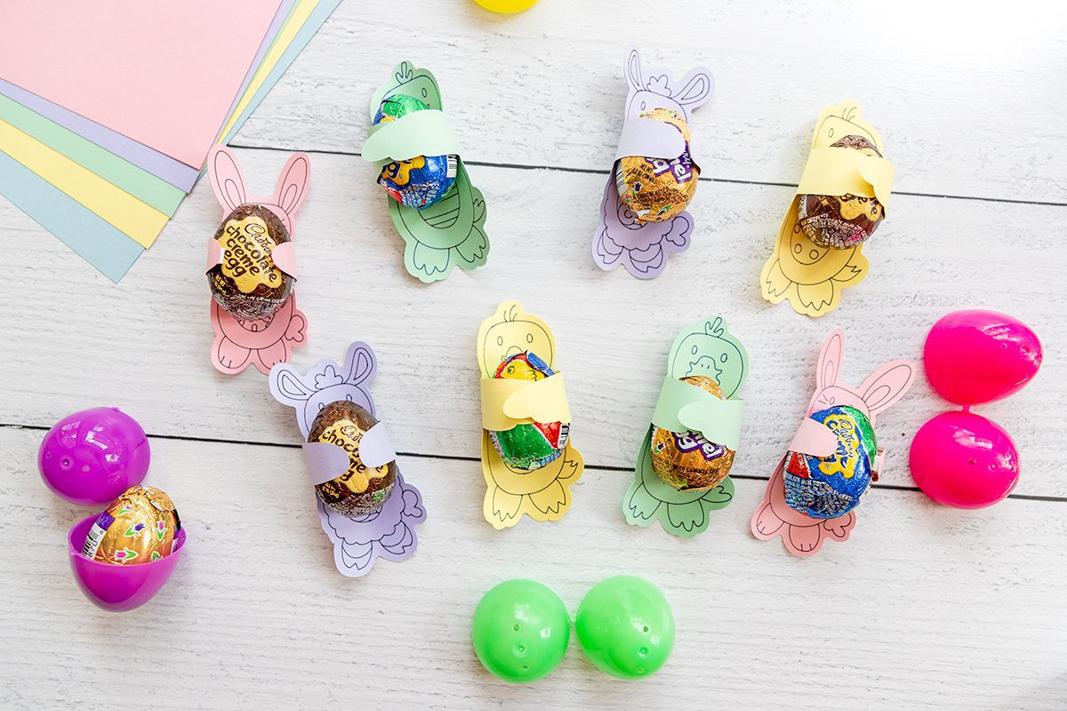 lots of easter candy hugs on a table