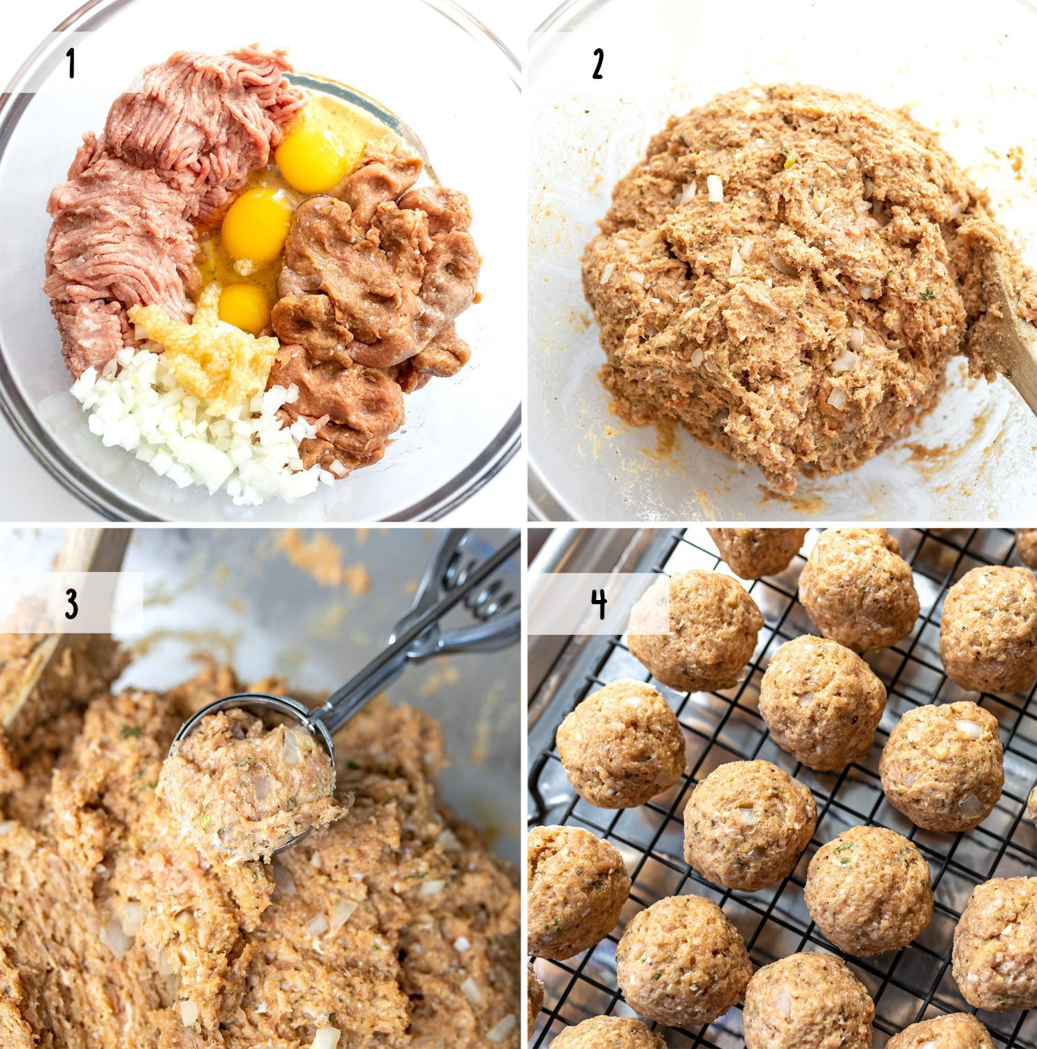 steps to make healthier oven-baked meatballs