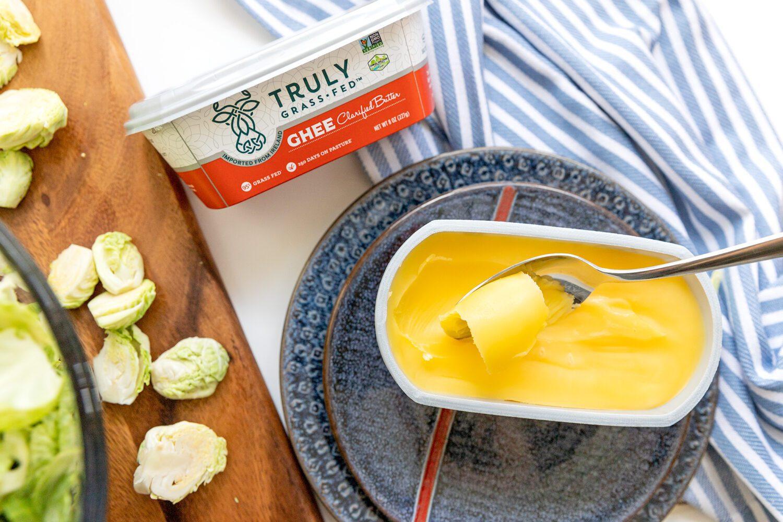 spoonful of ghee clarified butter