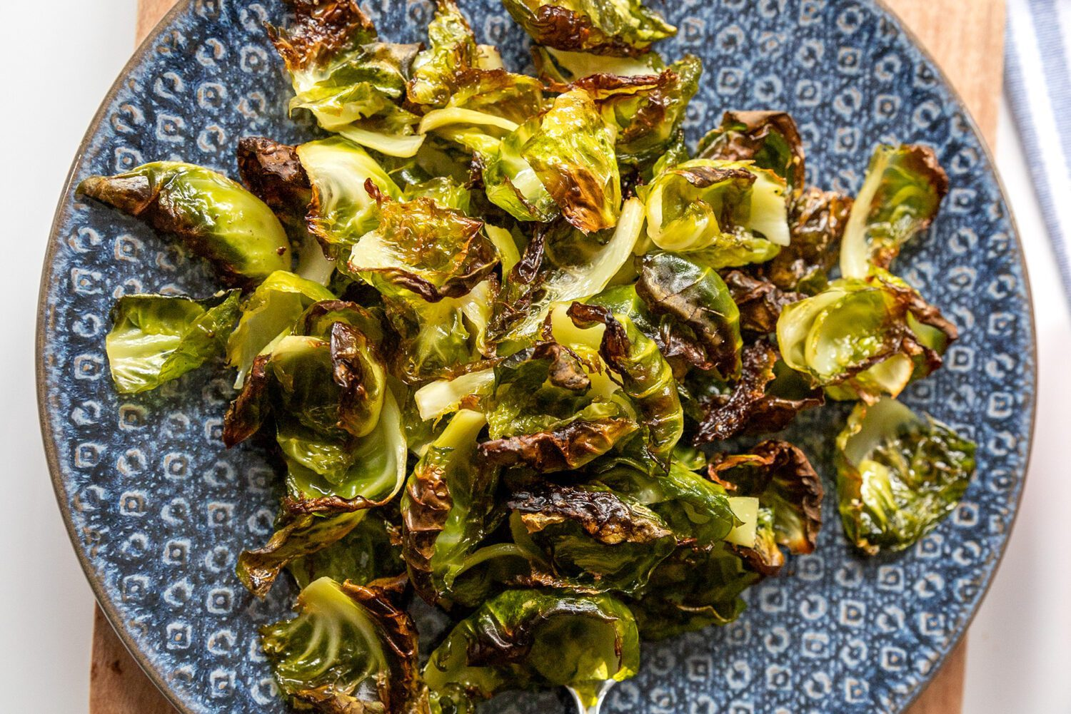 crispy brussel sprouts on a plate