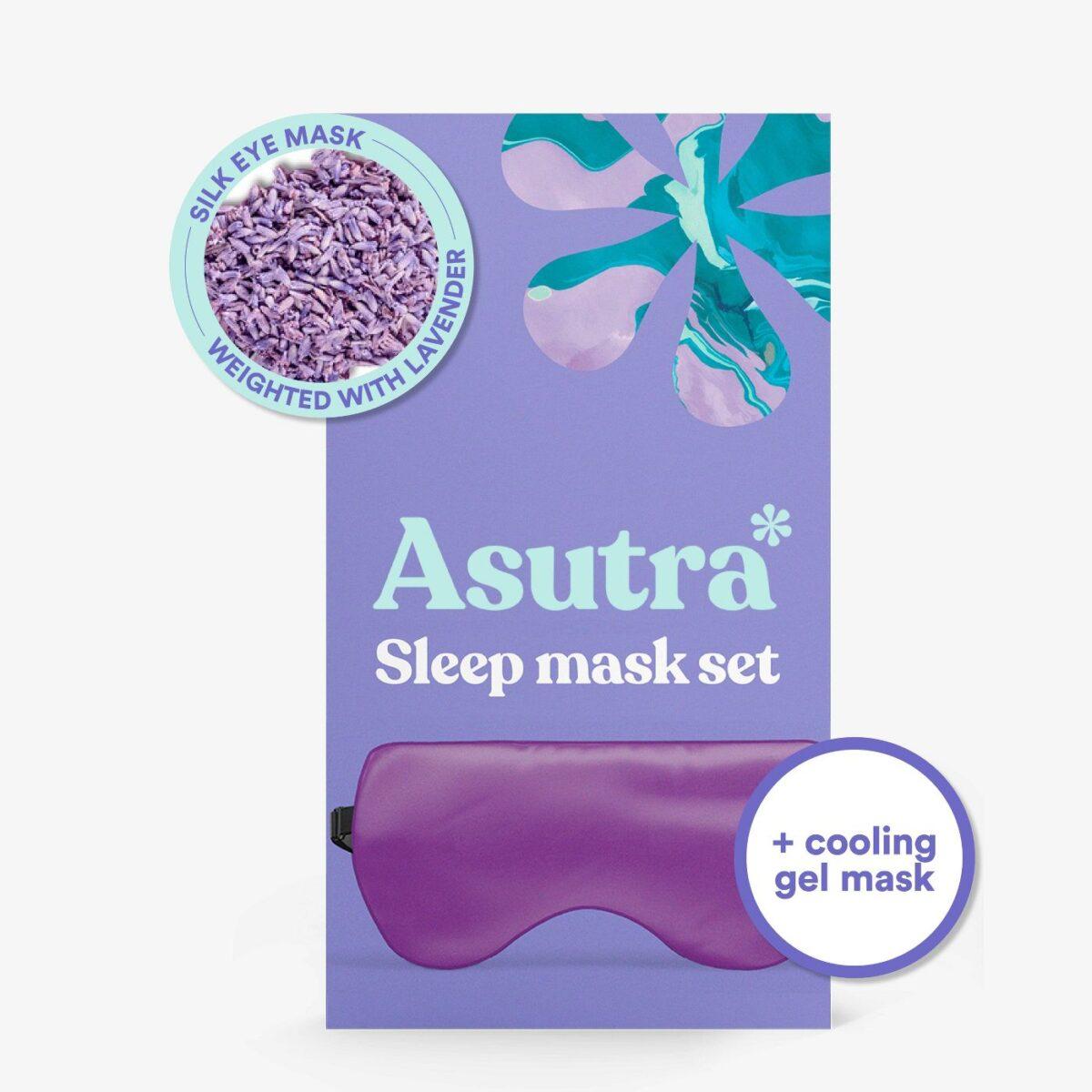 Asutra Sleep Mask Set - Purple
