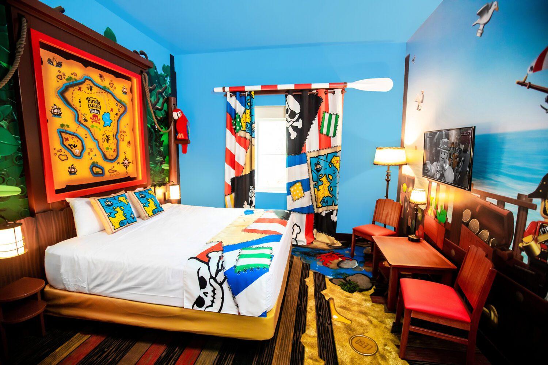 inside the room at LEGOLAND Pirate Island Hotel