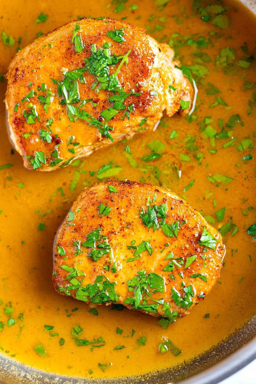 The Best Juicy Skillet Pork Chops by Inspired Taste