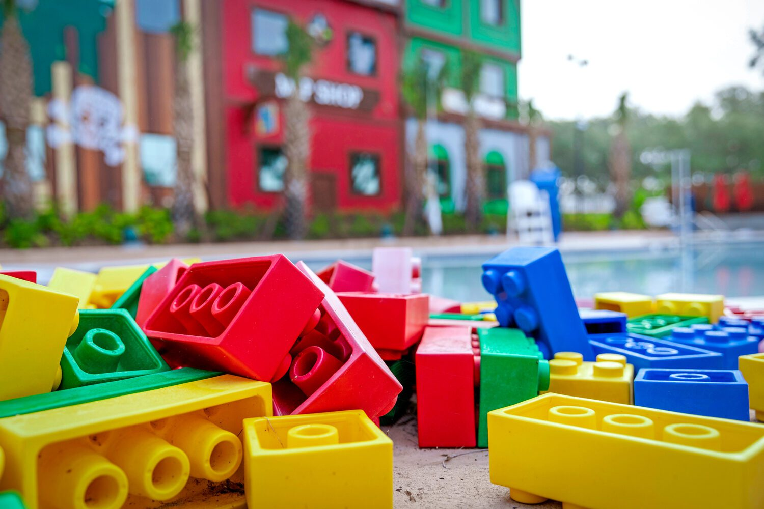 legos by the pool
