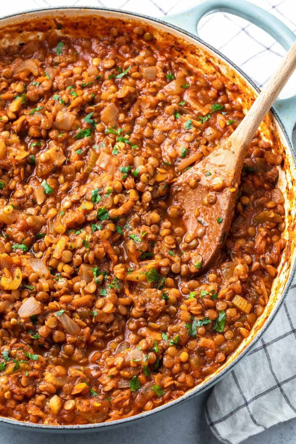 Lentil Bolognese by Simply Whisked