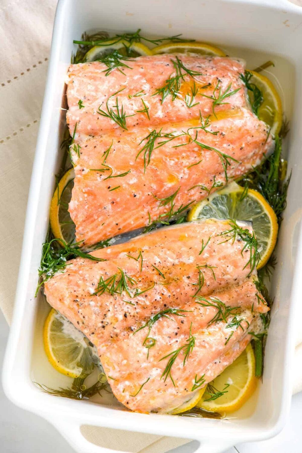 Perfectly Baked Salmon with Lemon and Dill by Inspired Taste