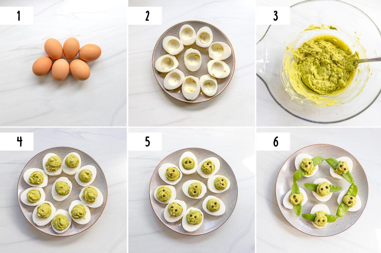 steps to make baby yoda deviled eggs