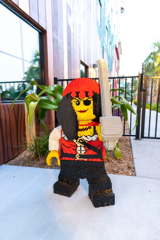 female pirate at LEGOLAND Pirate Island Hotel