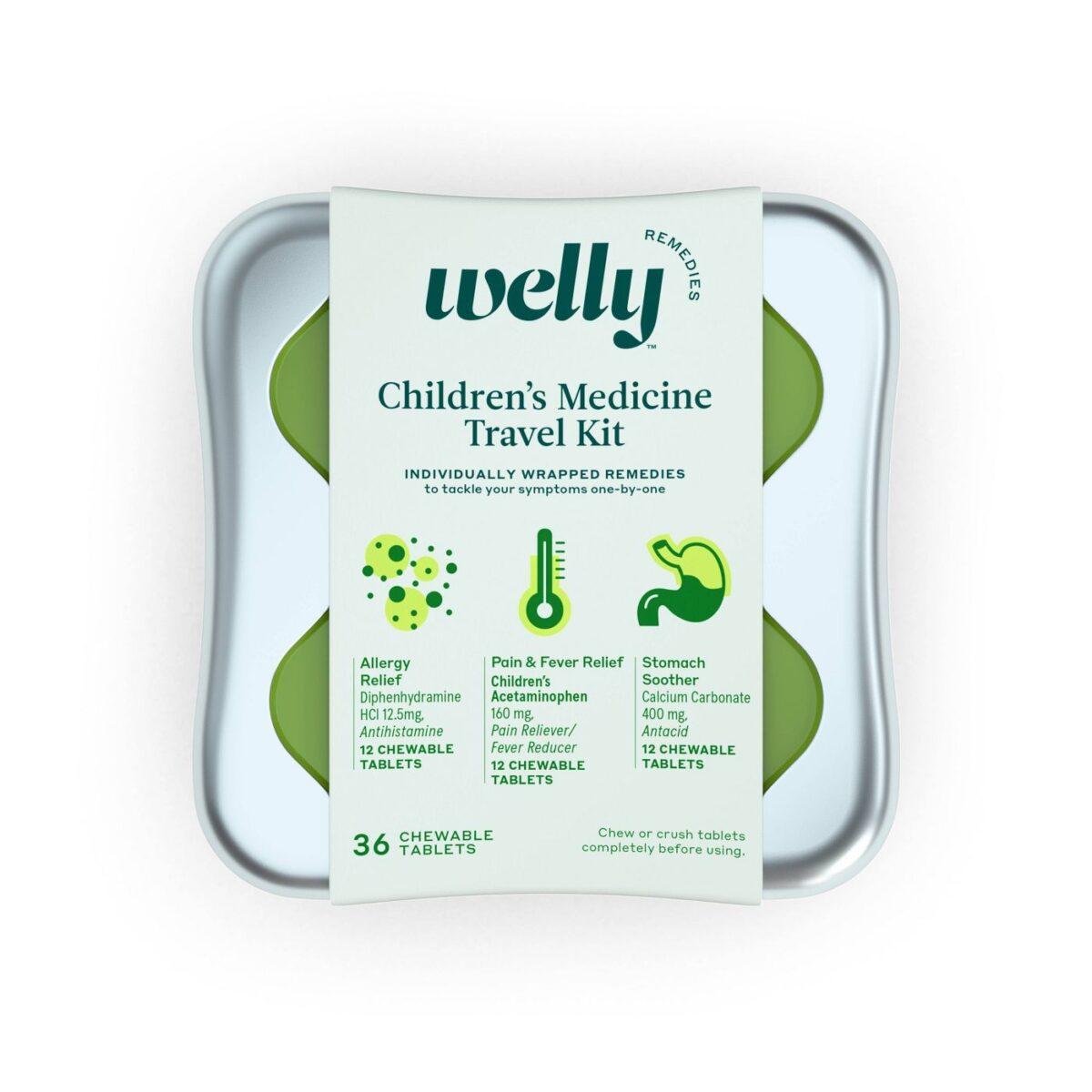 Welly kids medicine kit travel road trip necessities