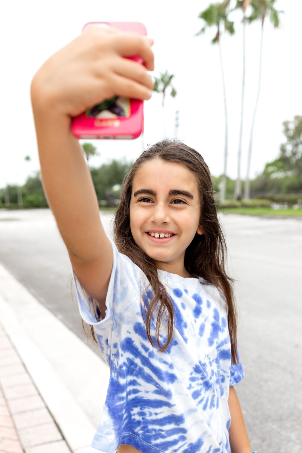girl taking a selfie our journey with ADHD