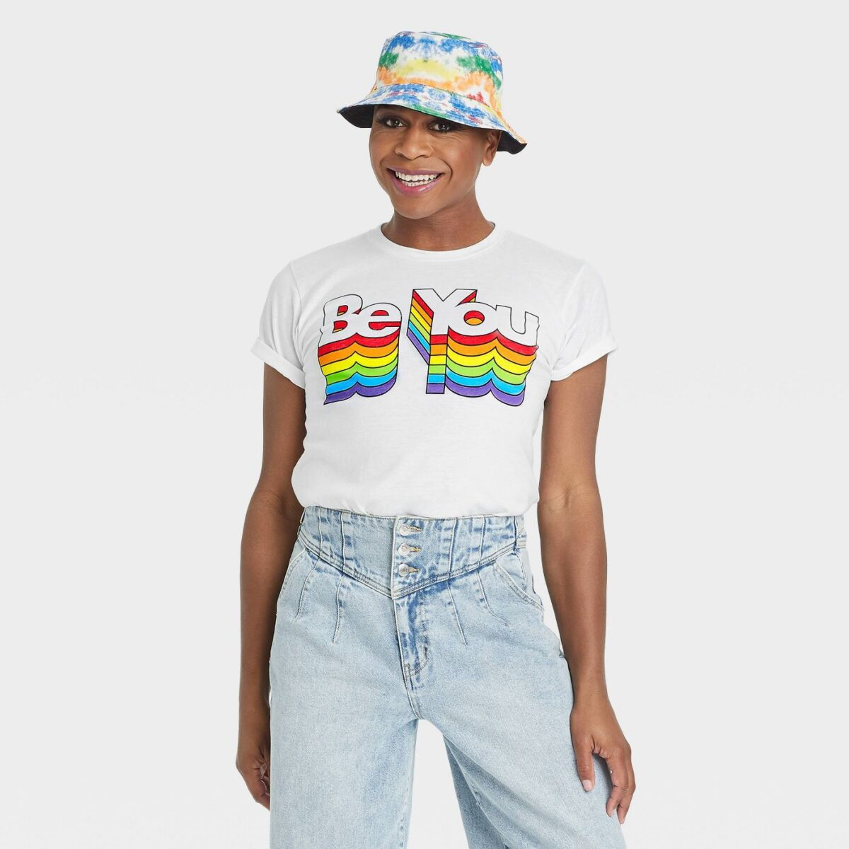Pride Gender Inclusive Adult 'Be You' Short Sleeve Graphic T-Shirt - White Pride Gifts