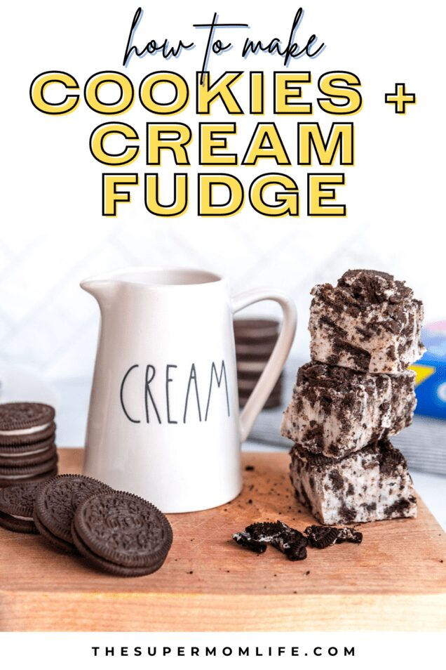 Our cookies and cream fudge is packed with OREO cookies. All you need are three delicious ingredients to make this super easy fudge.