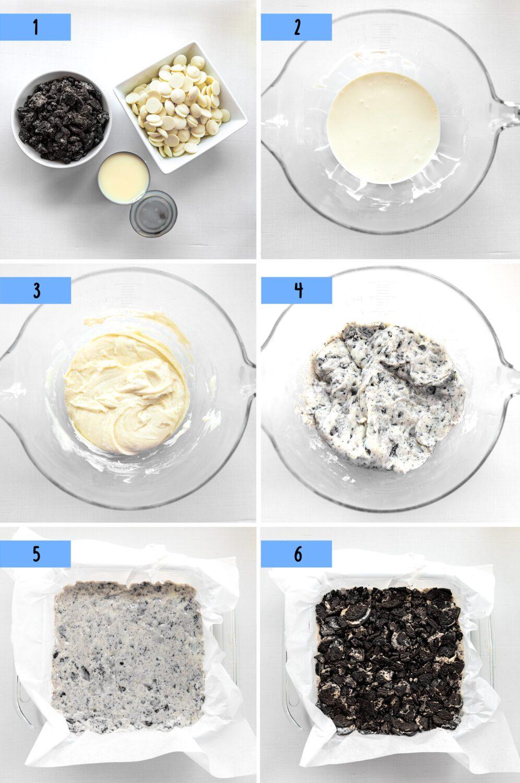 steps to make oreo cookies and cream fudge