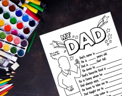 Dad Questionnaire Free Printable for Father's Day