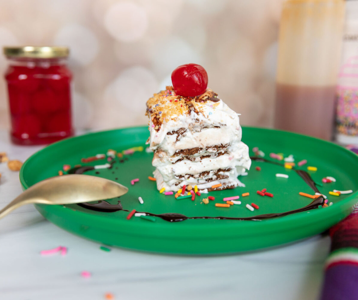 Easy Ice Cream Sundae Cake