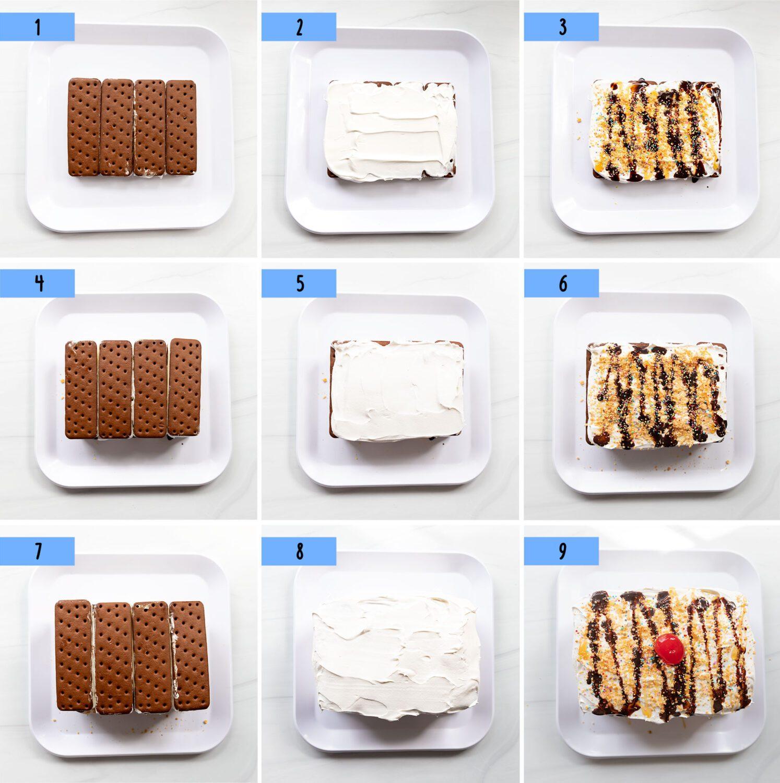 steps to make an easy ice cream sundae cake