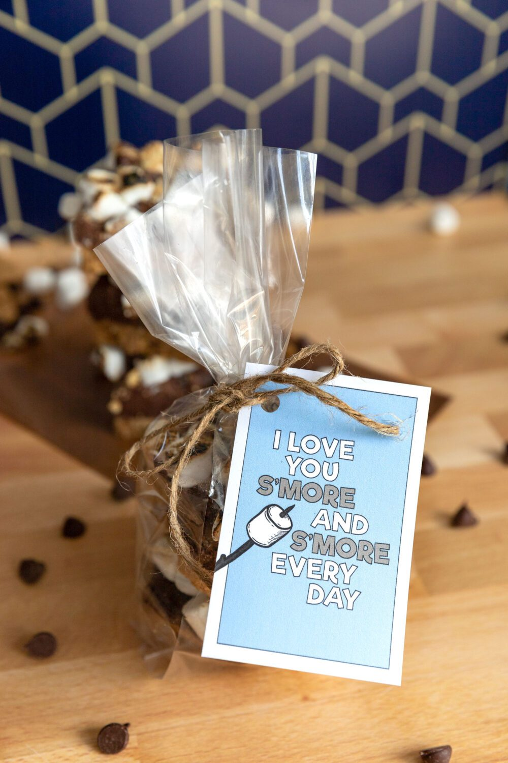 idea for a Father's Day treat I love you s'more and s'more every day