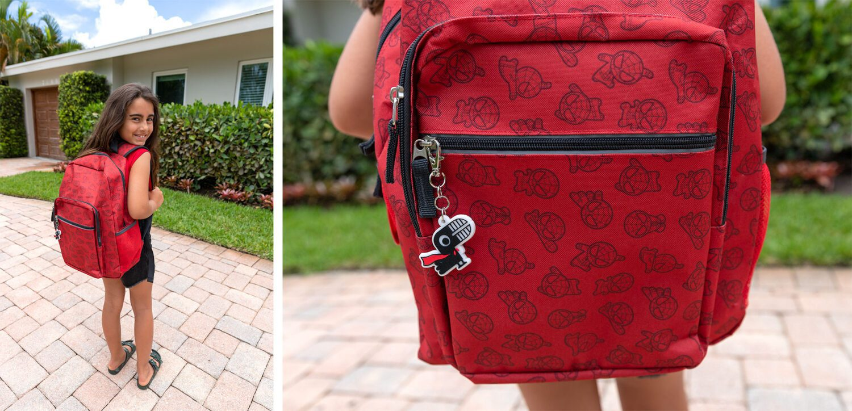 yoobi and marvel spiderman backpack