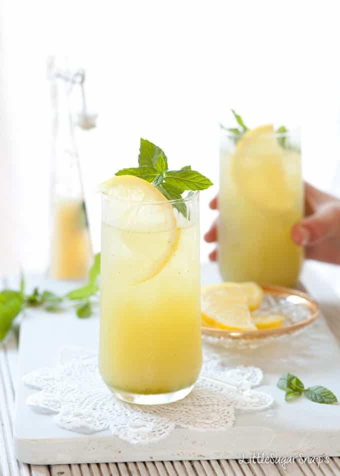 apple lemon mint cooler by little sugar snaps