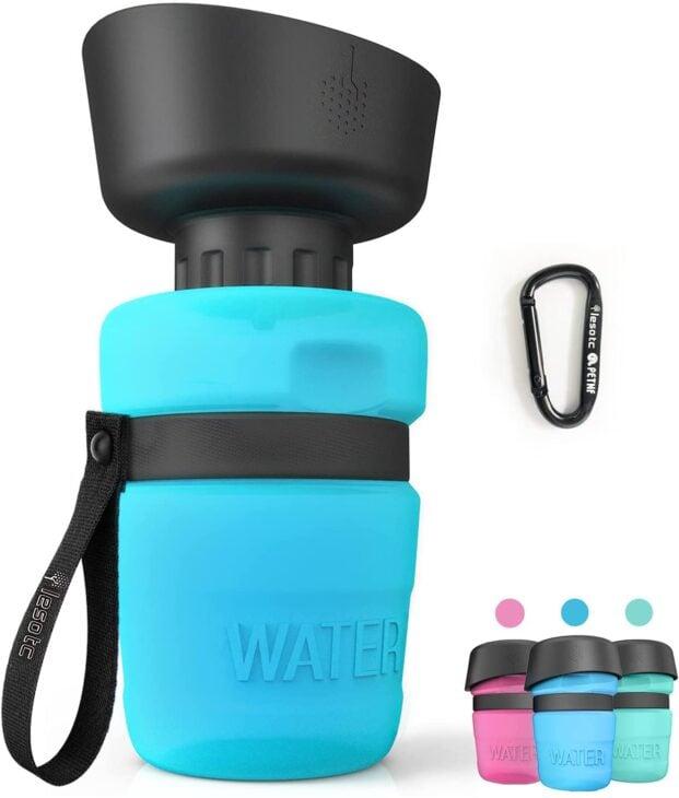 Foldable pet water bottle pet travel